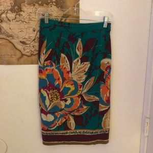 Maeve Tapestry Pull On Floral Skirt